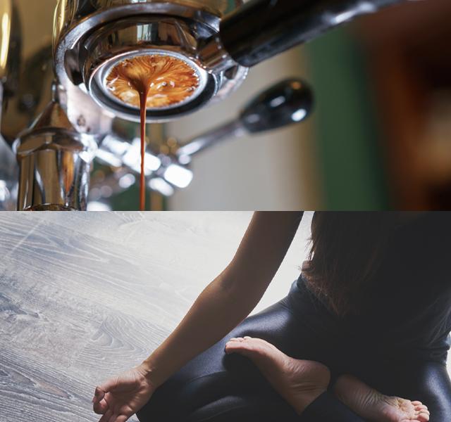 spカフェとヨガ